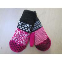 Buy cheap Ladies Acrylic Glove/Mitt with Jacquard--TR Lining glove--Fashion glove--Solid color from wholesalers