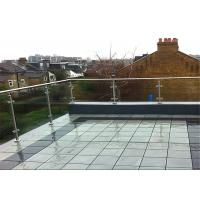 Buy cheap Outdoor Decking Stainless Steel Glass Railing Tempered Frosted Post Easy Installation from wholesalers