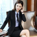 Buy cheap Regular Women 'S Business Suit Skirt Custom 90% Polyester Blended Cotton Long Sleeve from wholesalers