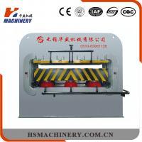 Single Venner Durable Short Cycle Hot Press Machine For Laminates 8-12pcs/Min