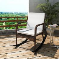 Buy cheap Outdoor Garden Rocking Chair, Rattan Patio Rocker Gliders with Cushions from wholesalers