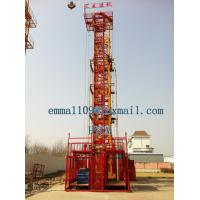 Buy cheap Small 2T Material Hoist Double Cages Lifting Elevator 24m Height Price from wholesalers