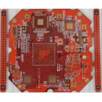 Buy cheap 8 layer impedance PCB with BGA & Red soldermask from wholesalers