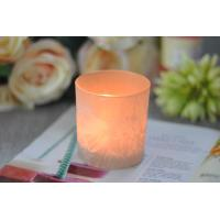 Buy cheap Gifts Tealight Glass Candle Holder Orange Romantic Heat Resisting from wholesalers