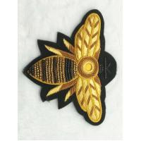 Buy cheap Bullion Hand Made Embroidery Badge , 3D Wire Metallic Yarn Applique Sew On from wholesalers
