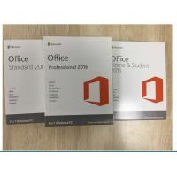 Buy cheap 32 / 64 Bit MS Office Professional 2016 Product Key With Original Key Card from wholesalers