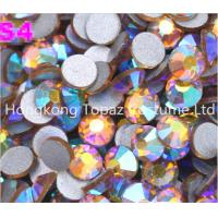 Buy cheap Topaz ab crystal Rhinestones,Flat Back Non hot fix Rhinestones clothing from wholesalers