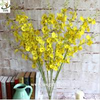 Buy cheap UVG Yellow decorative orchids plastic artificial flower factory for home garden decoration from wholesalers