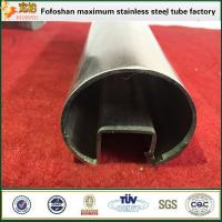 Buy cheap 316 Stainless Steel Double Slot Pipe For Stair Handrail Accessories product