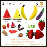 Quality custom pvc fruit shaped usb disk vegetables series usb memory flash disk 32MB  64GB for sale