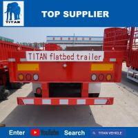 Buy cheap TITAN VEHICLE extendable container gooseneck flatbed semi trailers from wholesalers