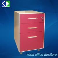 Buy cheap China Furniture Metal Mobile Bedside Pink File Cabinet With Drawers from wholesalers