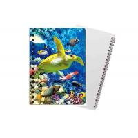 Buy cheap Sea Animal Image Custom Printed Spiral Notebooks 3D Cover High Definition from wholesalers