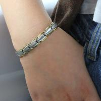 Buy cheap Factory Hot Unisex Stainless Steel Chain Germanium Energy Bracelet for Silver Gold Jewelry from wholesalers