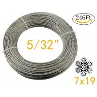 Buy cheap Stainless Aircraft Steel 7x19 wire rope For Railing ,Decking, DIY Balustrade , 5/32Inch from wholesalers
