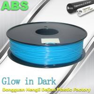 Buy cheap ABS Glow in The Dark 3d Printer Filament 1.75 / 3mm  glow in dark Blue ABS filament product