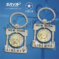 Buy cheap New York Liberty metal souvenir keychain,metal keyring wholesale price from wholesalers