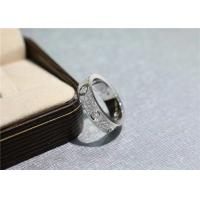 Buy cheap Cartier Love Ring 18k White Gold Pave Diamonds N4210400 high quality jewelry product
