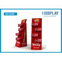 Buy cheap Red Food Display Stands  / Advertising Custom Cardboard Displays With Head Card from wholesalers