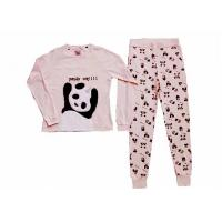 Buy cheap Comfortable Winter Womens Long Sleeve Pajama Sets Animal Applique Embroidery from wholesalers
