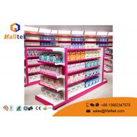 Buy cheap Double Sided Supermarket Gondola Shelving Modular Flexible With End Shelves from wholesalers