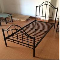 Buy cheap Black Iron Home Full Size Metal Beds Bedroom Furniture with White , Black or Custom Color from wholesalers
