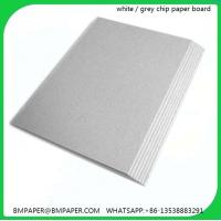 Buy cheap 1200gsm grey chip board solid grey card board from wholesalers