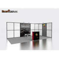Buy cheap Portable Slatwall Trade Show Booths 10x20 , Aluminum Extrusion Modular Exhibition Booth from wholesalers