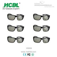 Buy cheap Brigh Black Frame Linear Polarized 3D Glasses For Hotels Tv Chain from wholesalers