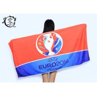 Buy cheap Microfiber Size 30'' x 60'' Europe Cup Logo Beach Towel , Fast Drying Super Absorbent Gym Towel from wholesalers