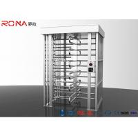 Buy cheap Automatic Safety Biometric Stainless Steel Turnstiles Full Height Bi - Directional Arm product