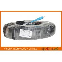 Buy cheap Fiber To The Home Optical Patch Cable 1 Core LSZH SC / SC LSZH 300M Black Steel from wholesalers