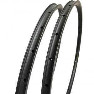 Buy cheap 335g Carbon MTB Bike Wheels 29er XC 28 * 22 Mm Matte Hookless Asymmetric product