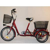 Buy cheap Front Basket Adult Electric Tricycles Rear Cargo , 3 Wheel Electric Bicycle from wholesalers