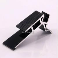 Anodized Furniture Aluminium Profiles Recyclable For Ladder Black Plus LED