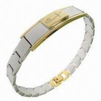 Buy cheap Bracelet Jewelry, Hot-sale Healthy Bio-magnetic Style, Made of Titanium and 316L Steel Materials  product