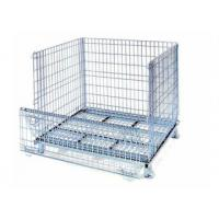 Buy cheap Metal Steel Galvanized Cheap Lockable wire mesh folding bulk containers from wholesalers
