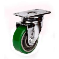 Buy cheap 125mm green polyurethane iron cast core caster from wholesalers