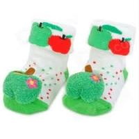 Buy cheap Fashion lovely dog attached  green non slip Baby Cotton Sock for Winter from wholesalers