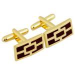 Buy cheap Gold  enamel cufflink from wholesalers