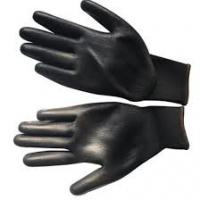Buy cheap Black Hot Oil Resistant Gloves , Safety Work Gloves Smooth Interior Treatment from wholesalers