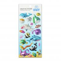 Buy cheap 3D Blister Hologram Shark Octopus Sea World Educational Game Stickers Size 18*9.5*2cm Seasonal Promotion Gift Products from wholesalers