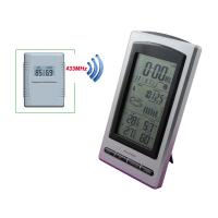 Buy cheap Digital Indoor Outdoor Thermometer Hygrometer Wireless Weather Station Clock Calendar Alarm Moon Phase Display MS1066D from wholesalers