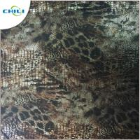 Buy cheap Green Printed Faux Leather Fabric High Stretch Performance Flame Retardant from wholesalers