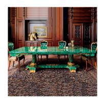 Buy cheap Top Green Malachite Natural Stone Countertop Marble Slab home decoration 2cm from wholesalers