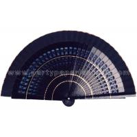 Buy cheap Solid Color Painted Wooden Hand Fans Hollowed Out Ribs , Craft Fan from Wholesalers