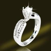 Buy cheap Wedding Rings Micro pave Silver Jewelry (RSG3467) from wholesalers