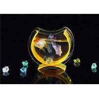 Buy cheap Small Acrylic Fish Tank / Desktop Fish Bowl With Cololful Stones product