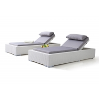 Buy cheap Outdoor Swimming Poolside Sun Lounger Chair With Adjustable Back from wholesalers