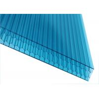 Blue Honeycomb Polycarbonate Hollow Sheets Hight Light Transmittance